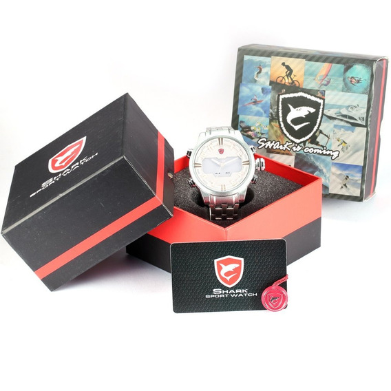 Desh020 Fosco Concha Aço Cinto Duplo Exibição Quartz Relógio