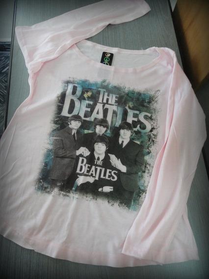 Remera Mangas Largas The Beatles, Talle1