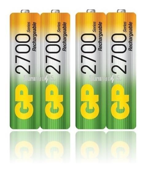 Baterias Recargables Aa Gp Nimh 2700mah 4 Baterias
