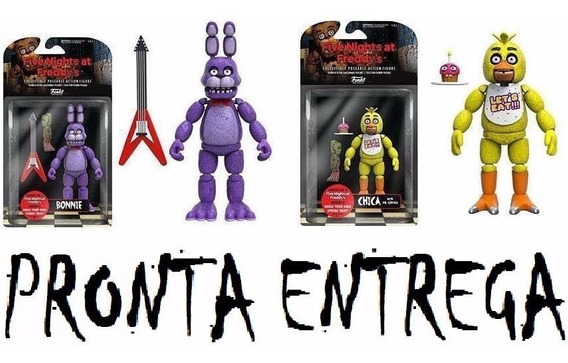 2 Boneco Five Nights Freddy, Chica E Bonnie Articulado Funko