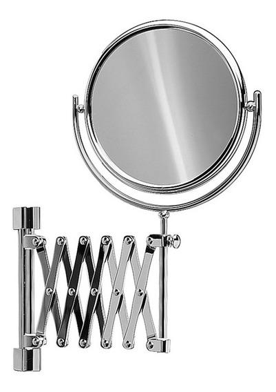 Espelho Aumento 5x Articulado De Parede Barbear Dupla Face