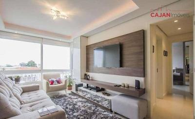 Mobiliado, Entrar E Morar - Apartamento De 2 Dormitórios Com 2 Vagas De Garagem No Bairro Cristo Redentor - Ap3031
