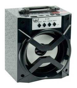 Caixa Som Bluetooth Portátil Rádio Fm Usb Mic Sd 8w Auxiliar