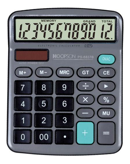 2 Calculadora De Mesa 12digitos Bat/solar Cinza Hoopson Un