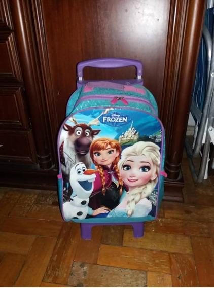 Mochila Escolar Infantil De Rodinhas Frozen Self G Disney