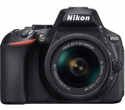 Câmera Nikon D5600 Dslr Com Lente 18-55mm 24.2mp 12x S/juros