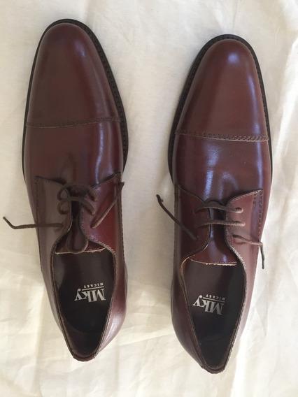 Zapatos De Vestir De Hombre Mky Mickey Marrón