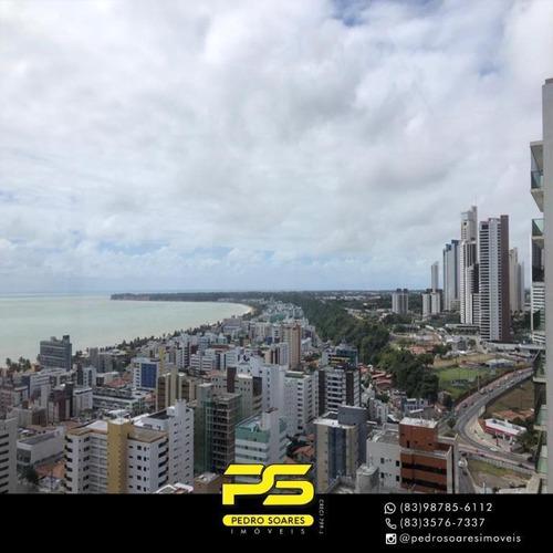 Apartamento Com 4 Dormitórios À Venda, 420 M² Por R$ 2.300.000 - Cabo Branco - João Pessoa/pb - Ap3715
