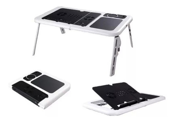 Mesa Para Notebook 2 Coolers Base Para Mouse Porta Caneta
