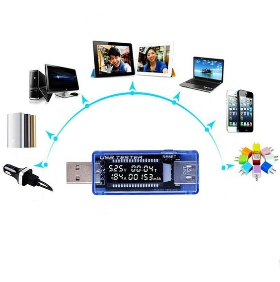 Medidor Testador Usb Voltagem Amperagem 3v ~ 9v / 0a ~ 3a