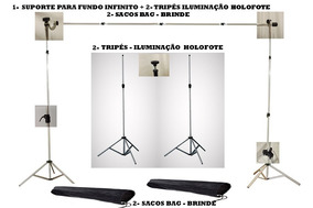 Suporte Tripe Holofote Fundo Infinito Estúdio Fotografico Y