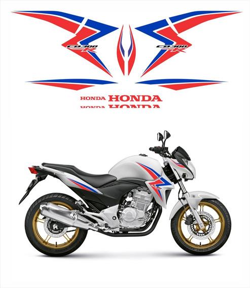 Adesivo Emblema Faixa Compatível Cb 300r 2015 Branca