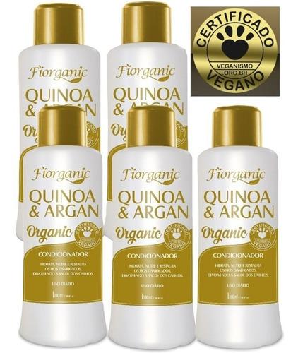Condicionador Quinoa E Argan 300ml - Fiorganic - 05 Unidades