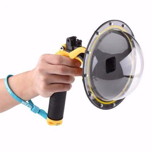Kit Gopro Hero 5 6 7 Black Caixa Estanque Dome Float 3 Way