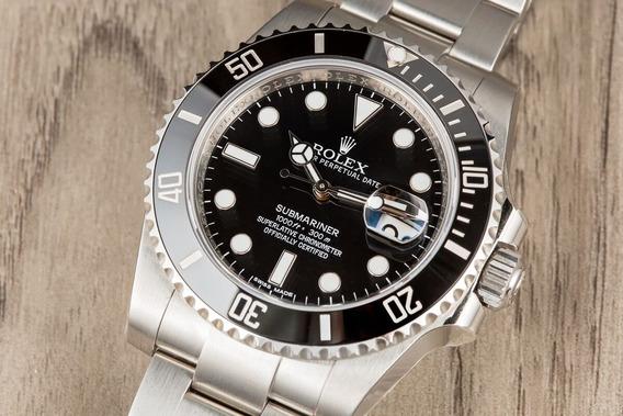 Relógio Masculino Rolex Submariner Automático Vidro Safira