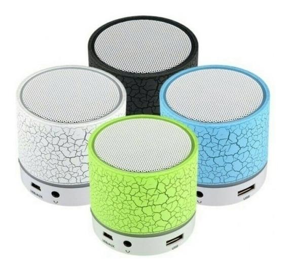 Caixa De Som Bluetooth Com Iluminação Led Rádio Fm Usb