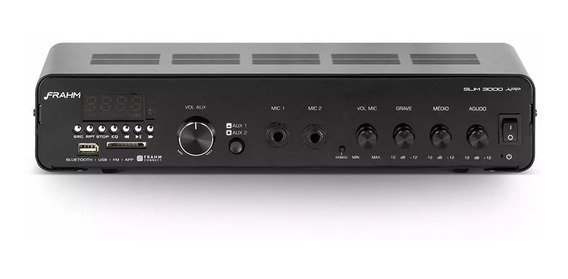 Amplificador Receiver De Som Ambiente Frahm Slim 3000 App G2
