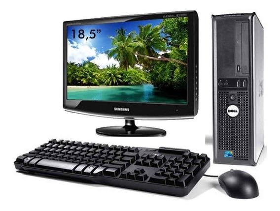 Kit Cpu Dell Core 2 Duo 8gb Ssd 120gb Wifi + Monitor 18,5