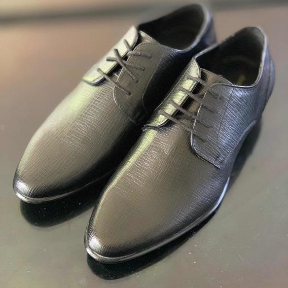 Zapatos Negros Zara Texturizados Talla 41 Hombre Elegantes
