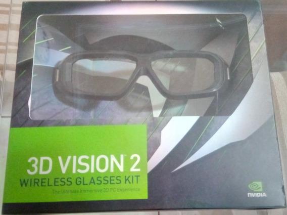 Óculos 3d Vision 2 Wireless Nvidia Kit Completo
