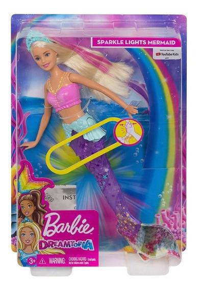 Barbie Sereia De Luzes Boneca Barbie Calda Sereia Dreamtopia