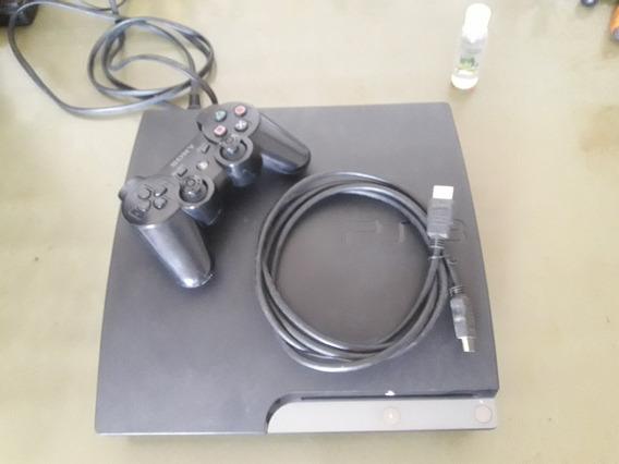 Video Game Ps3 Fat Com Um Controle Sem Hd