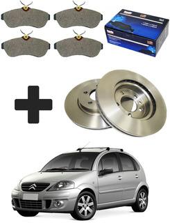 Kit Disco Freio + Pastilha Diant Citroën C3 1.6 2002 À 2012