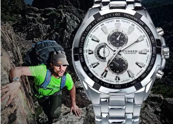 Relógio Curren Sports Militar Original Casual À Prova D