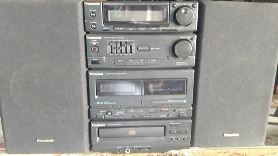 Aparelho De Som Panasonic Com As Caixas Barato 380 Reais