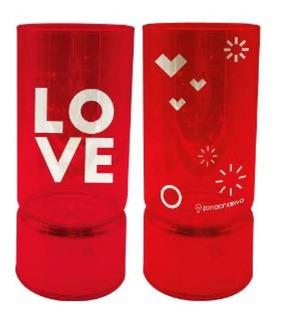 2 Luminárias De Vidro Lover Zc 10082344