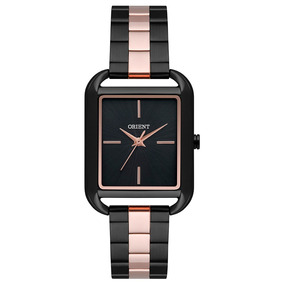 Relógio Orient Eternal Feminino Quadrado Preto Ltss0059 P1pr