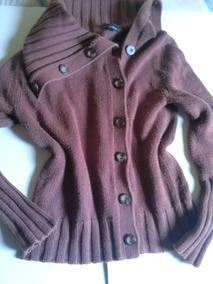Blusa De Frio Em Lã Marrom Estilosa