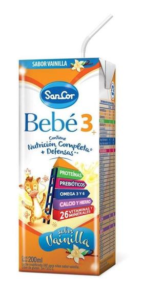 Leche de fórmula líquida Sancor Bebé 3 sabor vainilla por 90 unidades de 200mL
