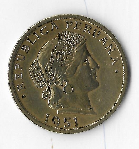 !!! Hermosa Moneda Peruana 20 Centavos 1951 Imperdible !!!