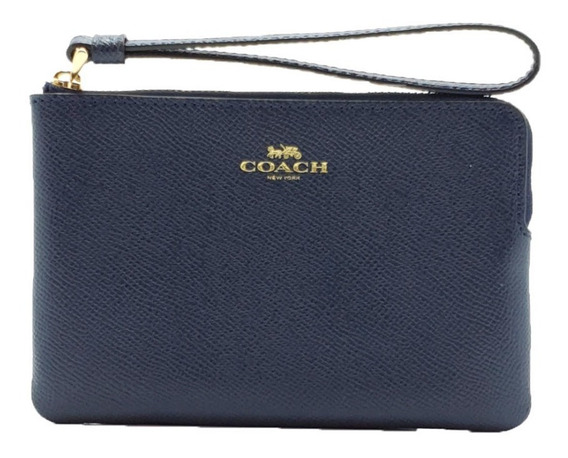 Bolsa Coach Wristlet Corner Zip Leather