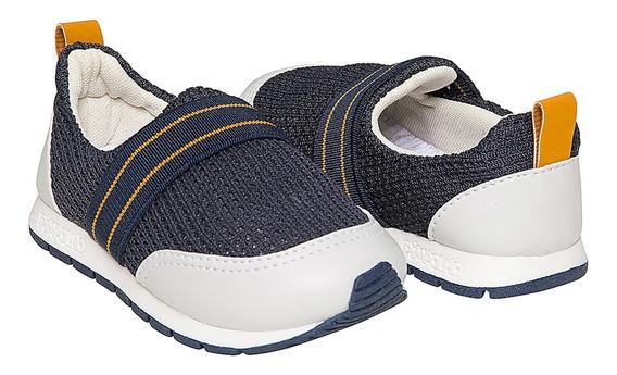 Tênis Calce Fácil - Azul Marinho 22 O 27 - Pimpolho 33176c