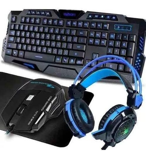 Kit Gamer Teclado Usb + Mouse 2400dpi + Fone Headset Led K91