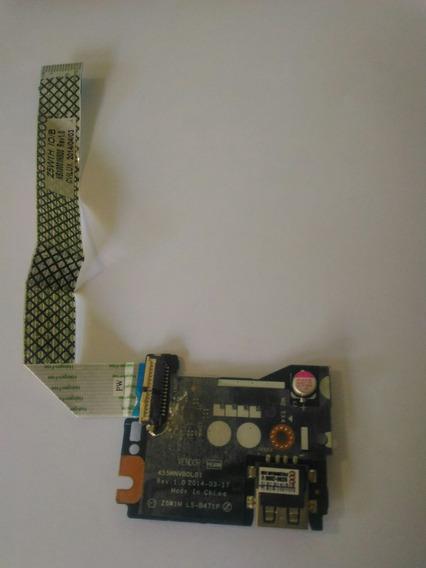Placa Usb,card,card +cabo Flat, Acer Es1-511c98n/455mnvbol01