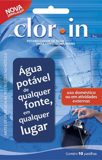 Pastilha Purificadora Água Clorin 1 Mg Nautika 10 Unidades