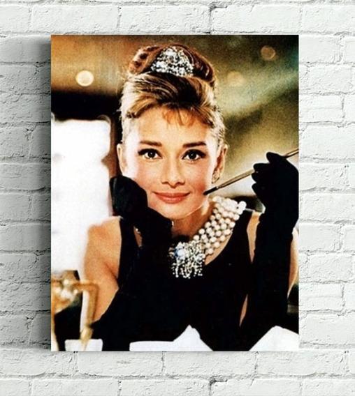 Quadro Audrey Hepburn Impressão Em Canvas