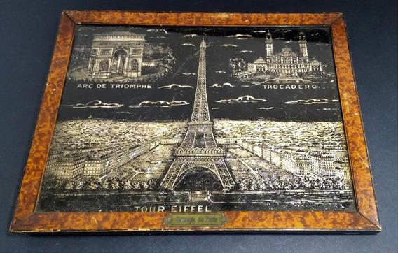Antigo Quadro Decorativo Paris - Torre Eiffel. 410. Rrdeco