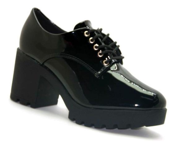 Sapato Oxford Vizzano Salto Tratorado Verniz Premium 1294100