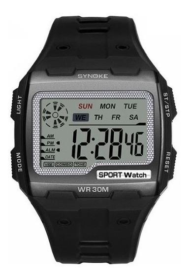 Relógio Masculino Esportivo Militar Casual Watch Men Synoke