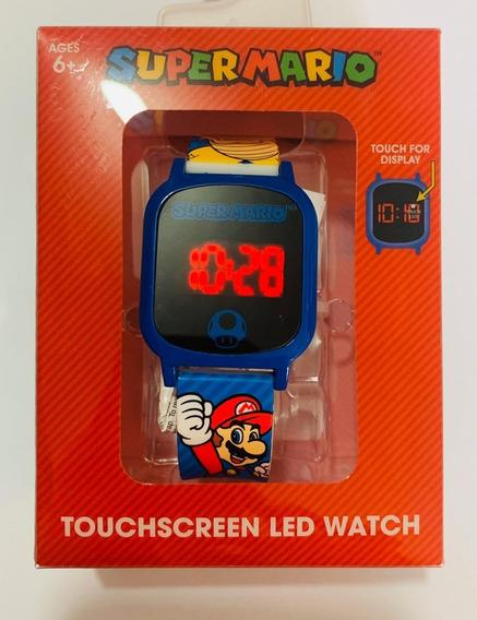 Reloj Super Mario Touch Led Watch Nuevo Original