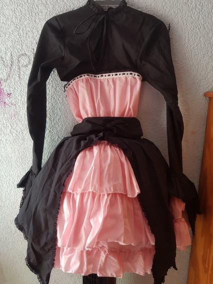 Vestido Lolita Negro/rosa.