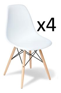 Silla Eames Set X4 Unidades Escandinavas Comedor Cocina