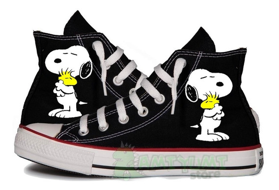 Tênis All Star Snoopy Woodstock Converse Customizado