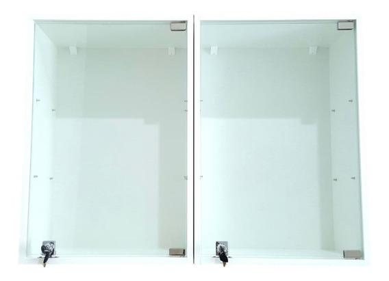 Expositor Jóias E Piercing Parede Porta Vidro Fechadura