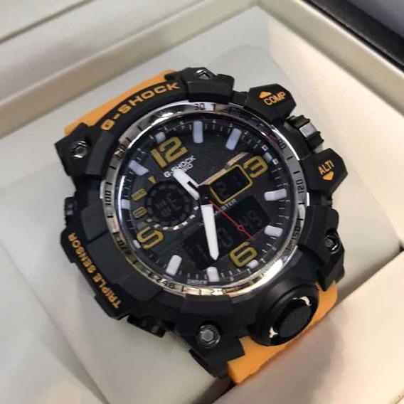 Relógio Mudmaster Digital Analógico Esporte Cronômetro Led