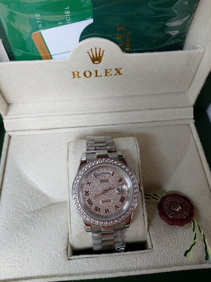 Relogio Rolex Daydate-cravejado